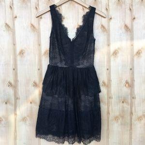 BCBGMaxAzria Black Lace Dress